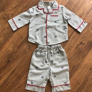 Baby Gap Shark PJ's 6-12mo